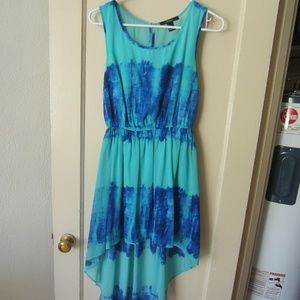 Forever 21 high low blue dress
